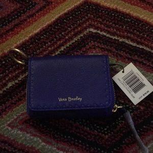 Vera Bradley RFID Mallory Card Case Gage Blue NWT